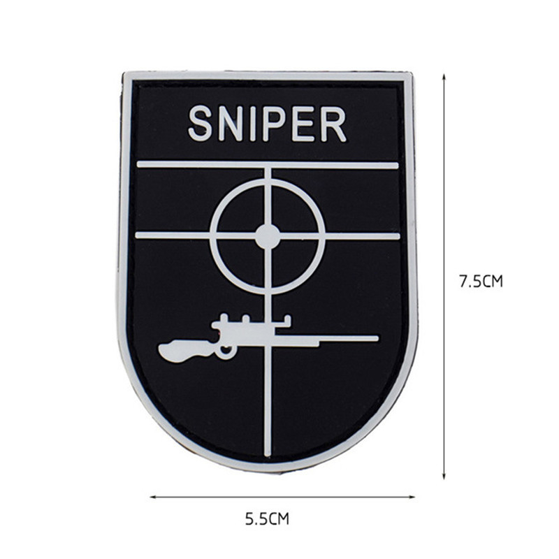 US $2 1 15% OFF|UNIFORM SNIPER Scope Crosshair SWAT Black Ops Tactical  Morale 3D PVC PATCHES Badge AIRSOFT COMBAT PAINTBALL MORALE SNIPER PATCH-in