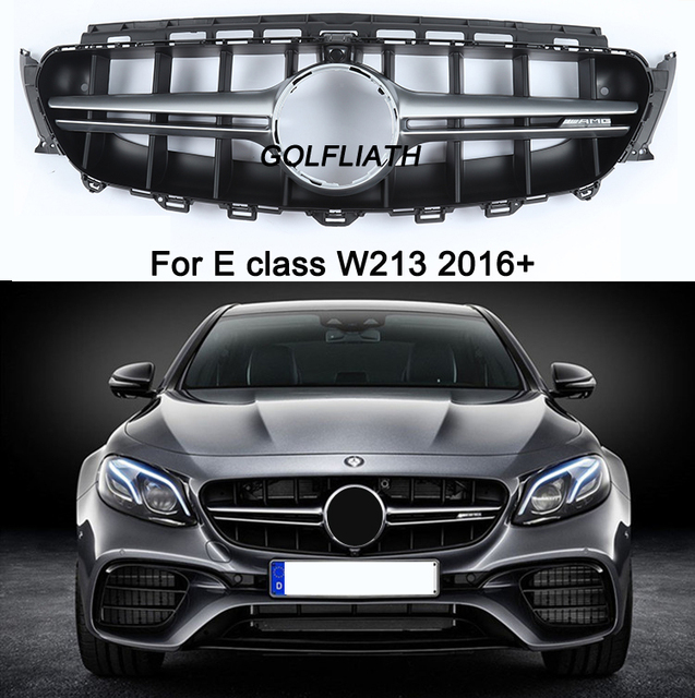 new e class w213 grille e63 amg design front bumper grill. Black Bedroom Furniture Sets. Home Design Ideas