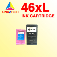1set High Capacity For HP46 Ink Cartridge For Hp 46 46 XL CZ637A CZ638A DeskJet 2020HC