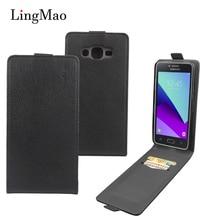 For Samsung Galaxy J2 Prime Case Cover Vintage Luxury Leather Vertical Flip Wallet Phone Bag Case for Samsung Galaxy J2 Prime