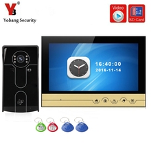 YobangSecurity 9 Inch Video Door phone Doorbell Camera Intercom System RFID Card With Video Recording and Photo Taking Function