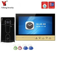 YobangSecurity 9 Inch Video Door Phone Doorbell Camera Intercom System RFID Card With Video Recording And