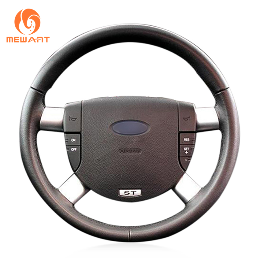 MEWANT Black Artificial Leather Car Steering Wheel Cover for Ford Mondeo Mk3 2002-2006 mewant black artificial leather steering wheel cover for acura cl 1998 2003 mdx 2001 2002 honda accord 6 1998 2002 odyssey