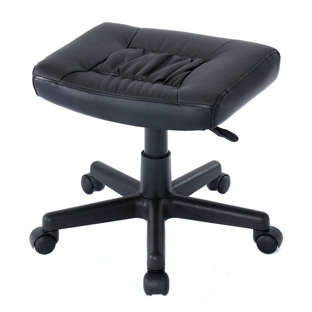 office chair with ottoman swivel black ergonomic leg rest for memory foam furniture stool footstool footrest computer
