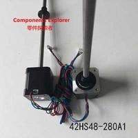 NEMA17 linear stepper motor Lead screw Tr8 pitch 1mm 42HS48 280A1 48mm body bipolar stepper motor