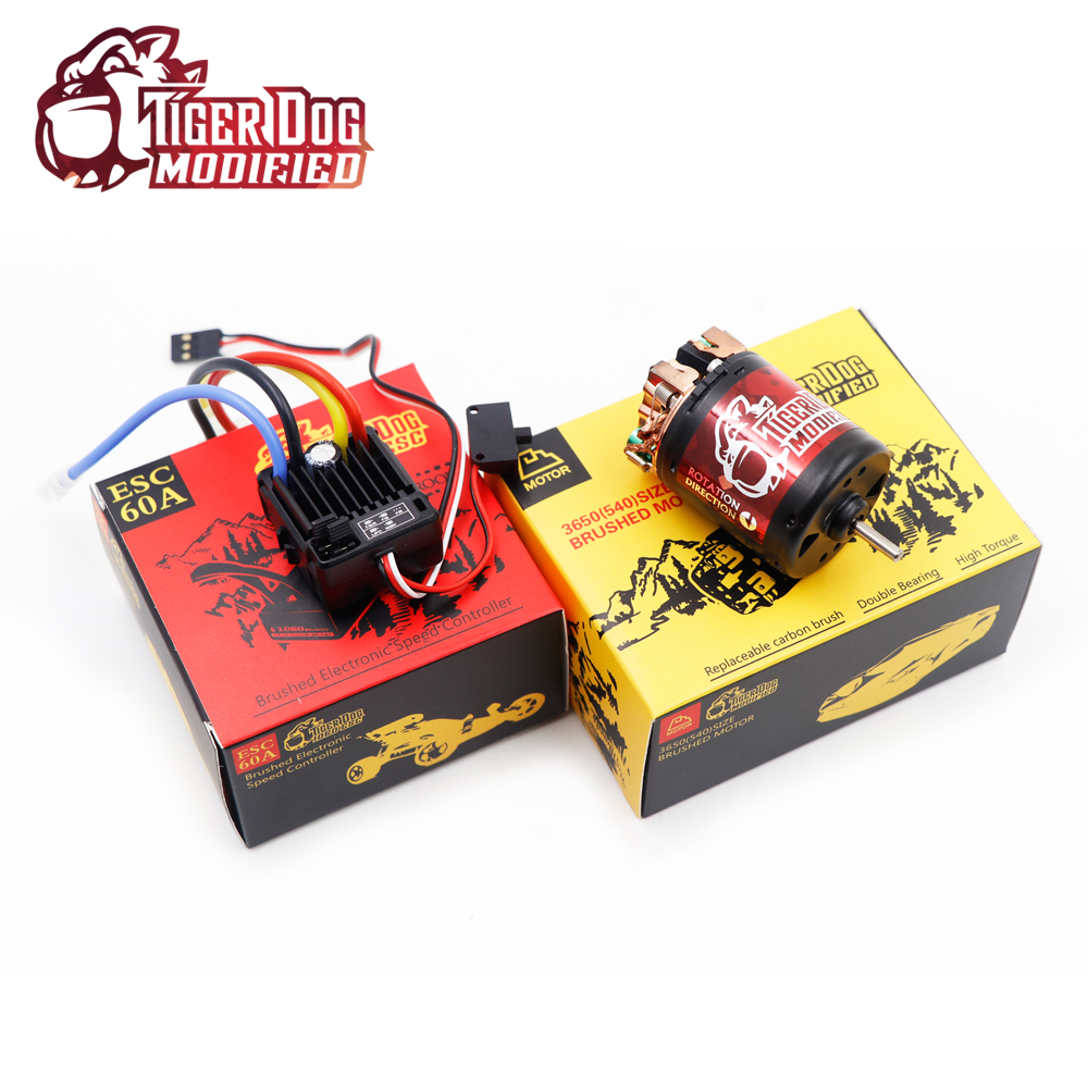 High quality all Waterproof 540 Brush motor with 1060 Brushed 60A 5V/3A ESC Set for 1/10 RC Drift Climbing Crawler Car goolrc rc cars motor 540 55t carbon brushed motor 60a esc combo 1 10 axial scx10 rc4wd d90 rc crawler climbing car model part