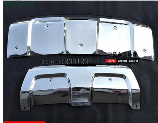 2pcs Stainless Steel Front + Rear Bumper Guard Protector Skid Plate Board for Land Rover Range Rover Sport 2014 2015 коврики в салон land rover range rover evoque 2011