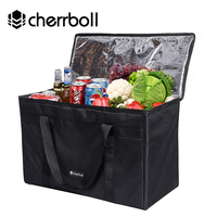 Cherrboll Extra Large Size Ice Pack For All Seasons Reusable Grocery Shopping Box Bags Large Food Cooler Box Bags (35*29*58cm )