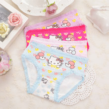 2-9Y Kids Girls Boys Underwear Pink Blue Shorts Cartoon Cotton Children Short Pants For Kids Toddlers 1 PIECE(China)