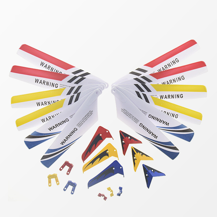 Colorful Syma S107G S107 RC Helicopter Spare Parts Main Blades, Tails, Props, Decoration Replacement Gear Accessories