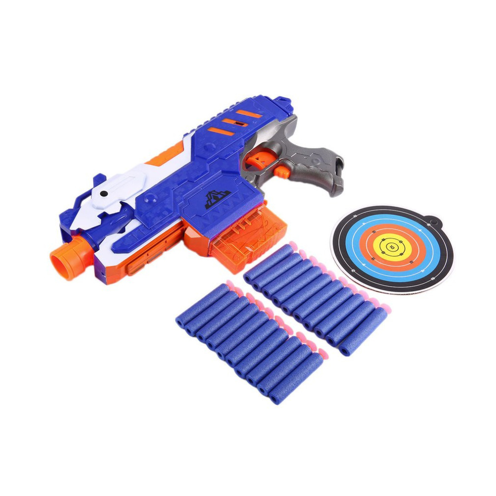 Soft Bullet Electric Toy Gun Pistol Sniper Rifle Plastic Arme Arma Gun Toys With 20 pcs Darts & Dart Board For Children Gift