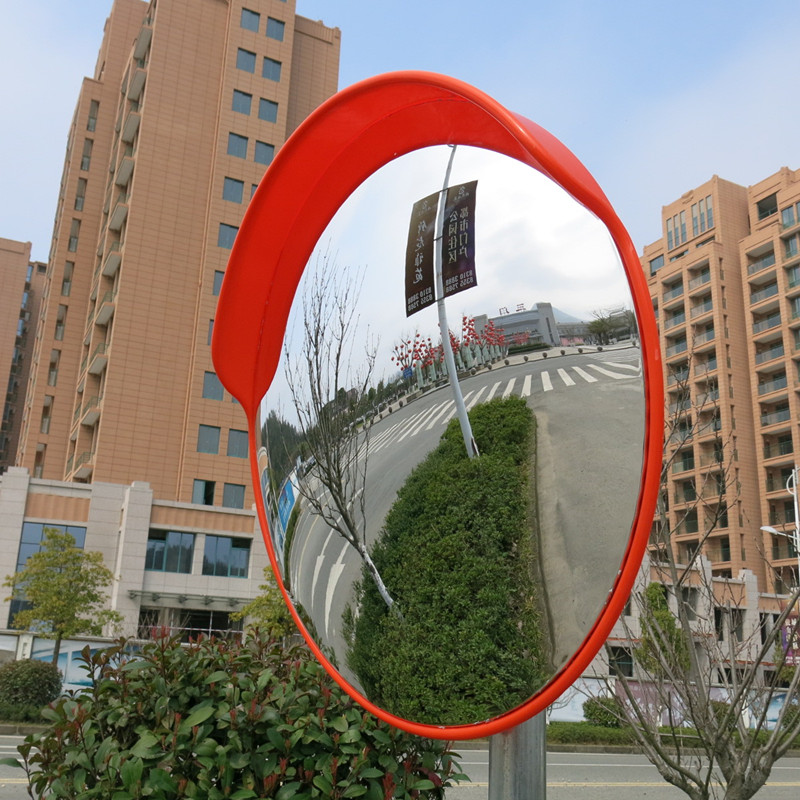 45 Cm Wide Angle Security Curved Convex Road Mirror Traffic Driveway Roadway Safety Traffic Signal