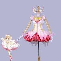 Anime Card Captor 2018 Clear Card Sakura Cosplay Costume Halloween Carnival Unifrom Ball Dresses Custom Made