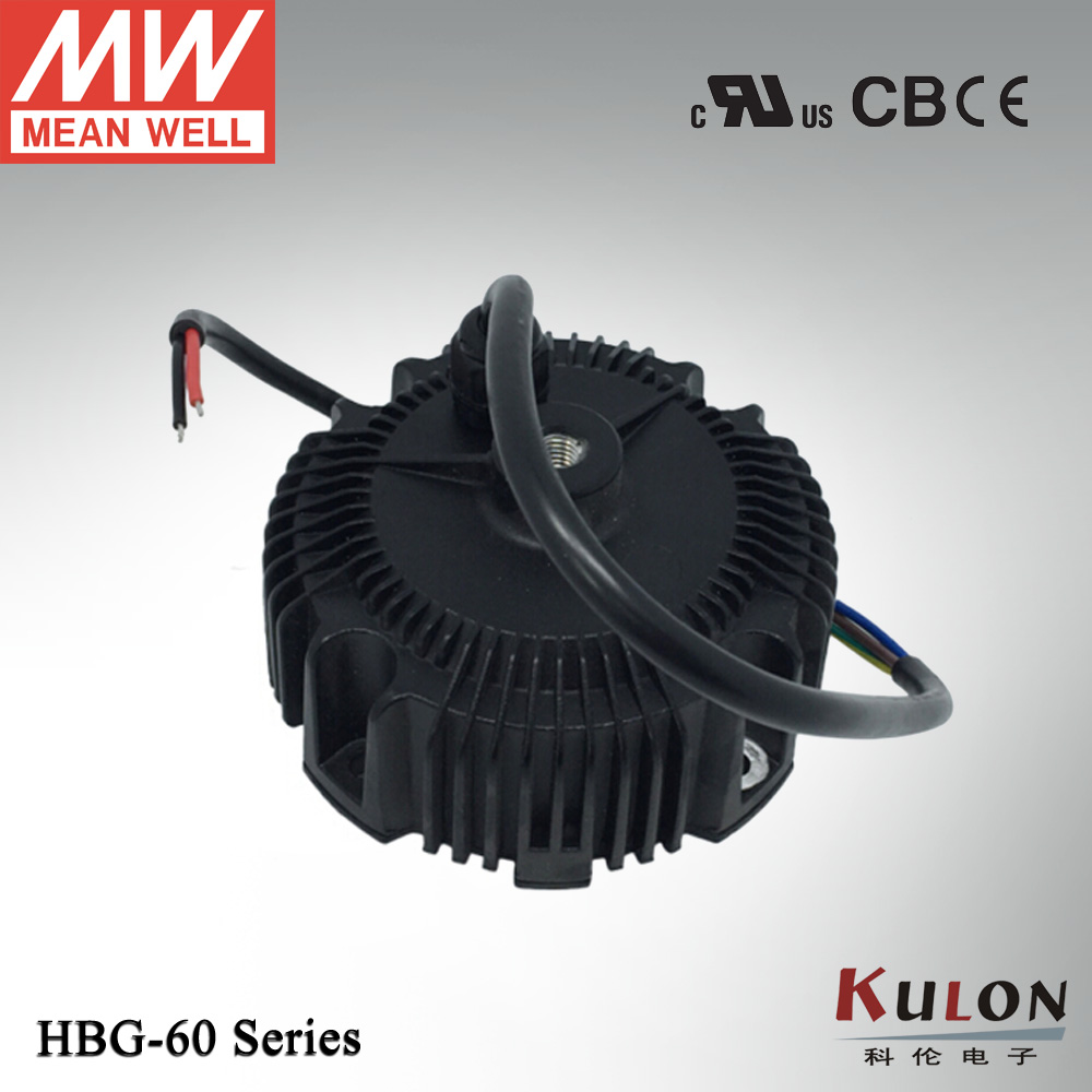 Meanwell 60W constant current LED driver HBG-60-1050 60W 1050mA LED power supply 60w led driver dc36v 1 8a high power led driver for flood light street light constant current drive power supply ip65