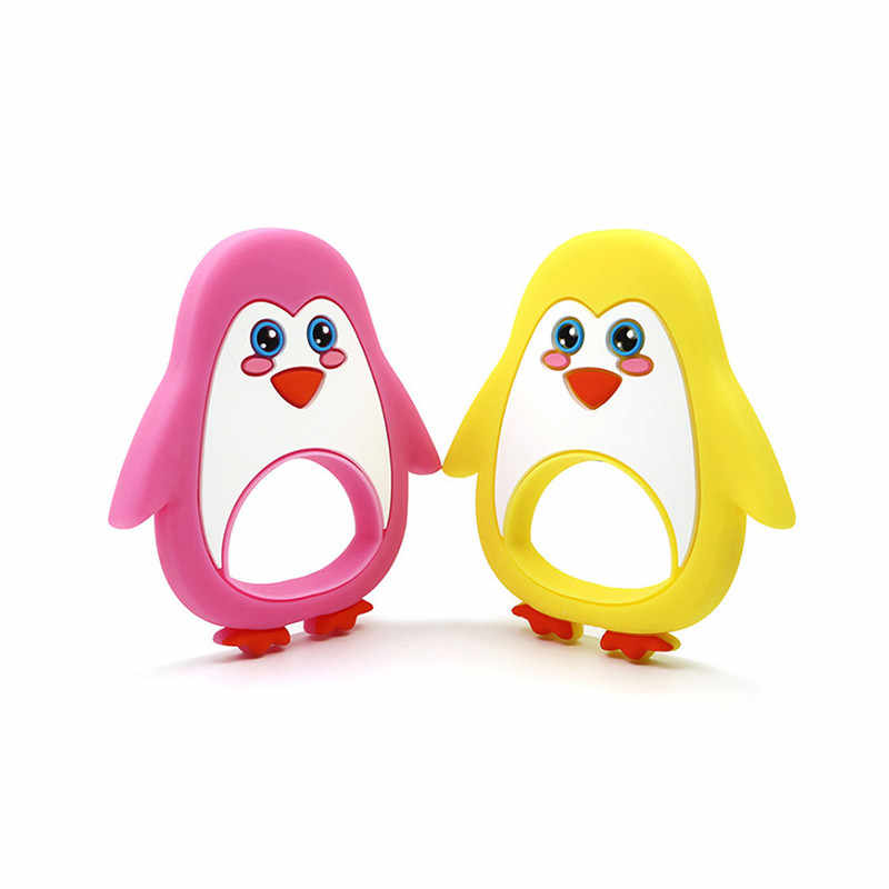Пингвин Прорезыватель для зубов детские Силиконовый грызунок соски с цепочкой для младенцев Детские Прорезыватели для зубов BPA Детские продукта