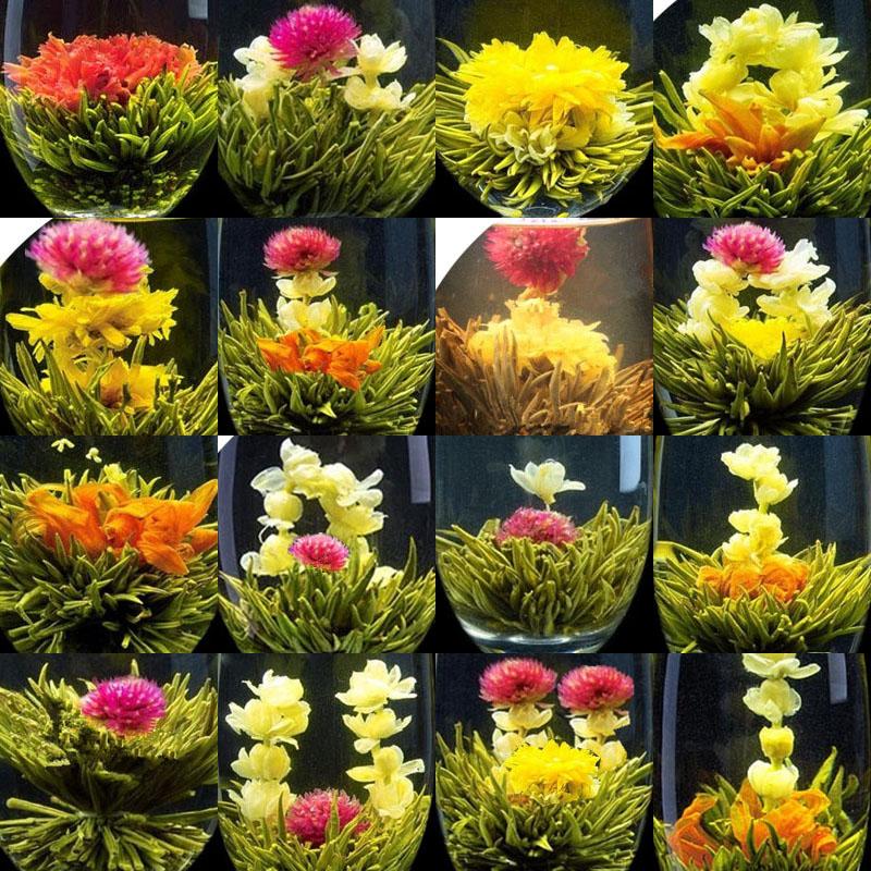 New 16 Kinds of Handmade Blooming Flower Tea Chinese Ball technology herbal tea Artistic the tea
