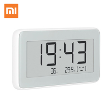 100% Xiaomi Mijia BT4.0 Wireless Smart Electric Digital clock Indoor Hygrometer Thermometer E ink Temperature Measuring Tools