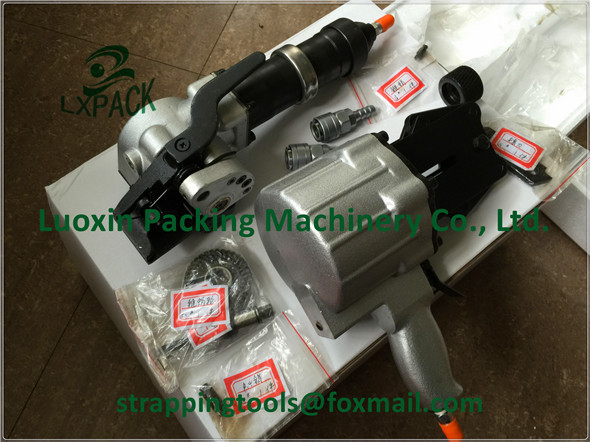 LX-PACK brand Hand-held tools for the seal with steel strap Pneumatic steel strapping tool for the seal joint with steel strap life size hand joint with ligaments the palm of your hand with ligament model