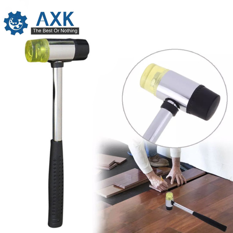 Tool Hammer Mallet Rubber Leather 25mm Double Face Soft Tap Durable And Powerful Grip Omfort Multifunctional Woodworking Steel