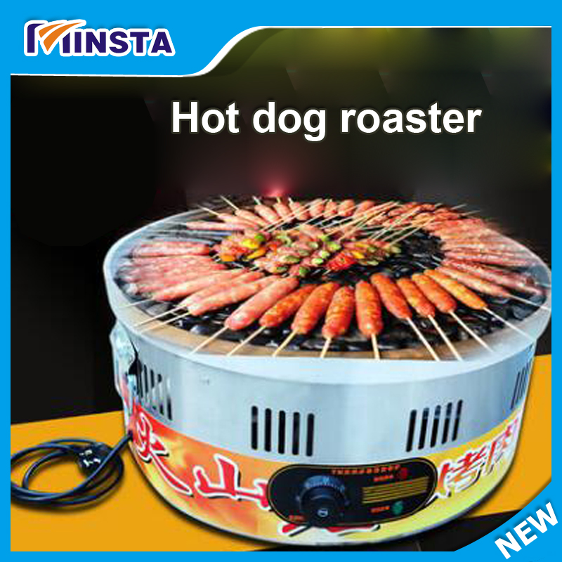 220v Electric Sausage Hot Dog Cooker Hotdog Steamer Machine & Bun Warmer roller sausage grill sausage warmer
