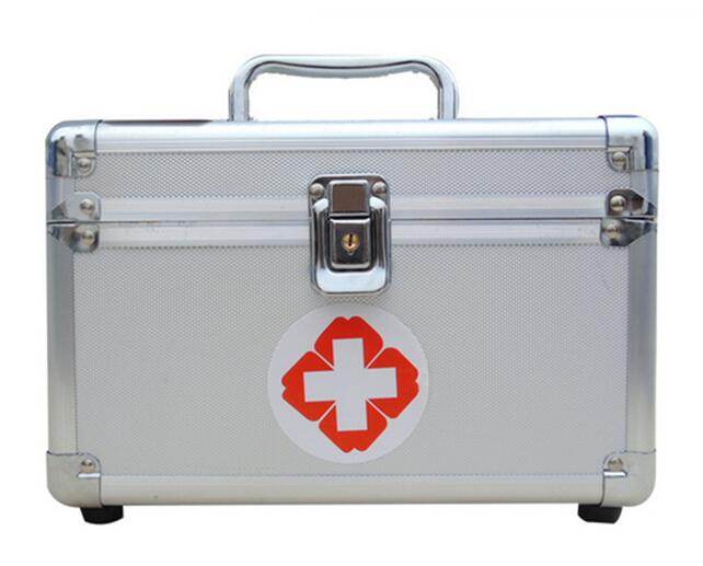 Locking medical kits out of the box Aluminum alloy first-aid family of various models of medical kits the amount of medical mirror mirror ent examination of medical endoscope otoscope medical devices