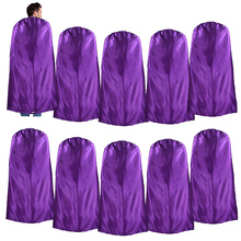 10 Packs SPECIAL 140*90 cm Adult Costume Superhero Purple Cape For Men Party Themes Gift