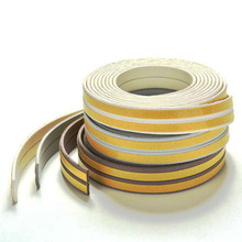 Useful 1pc 5m Self Adhesive I Type Doors and for Windows Foam Seal Strip Soundproofing Collision Avoidance Rubber