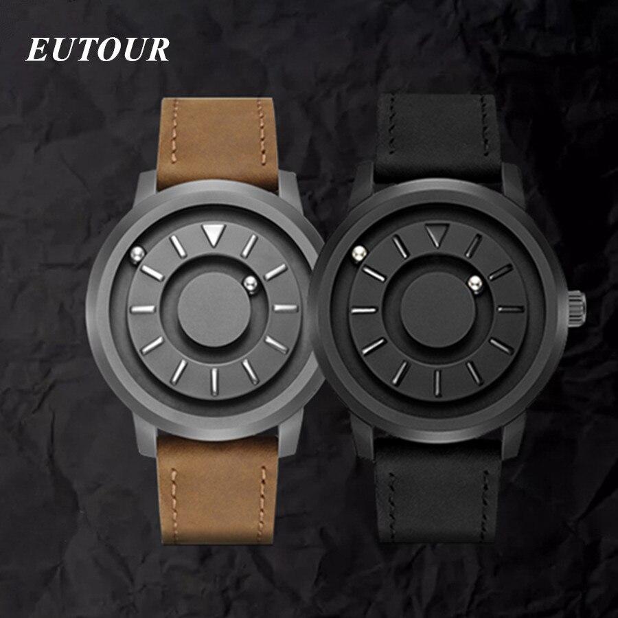 EUTOUR Magnétique montres homme Top Marque De Luxe acier inoxydable De Mode décontracté Homme Montre-Bracelet Unisexe montres à quartz erkek kol saati