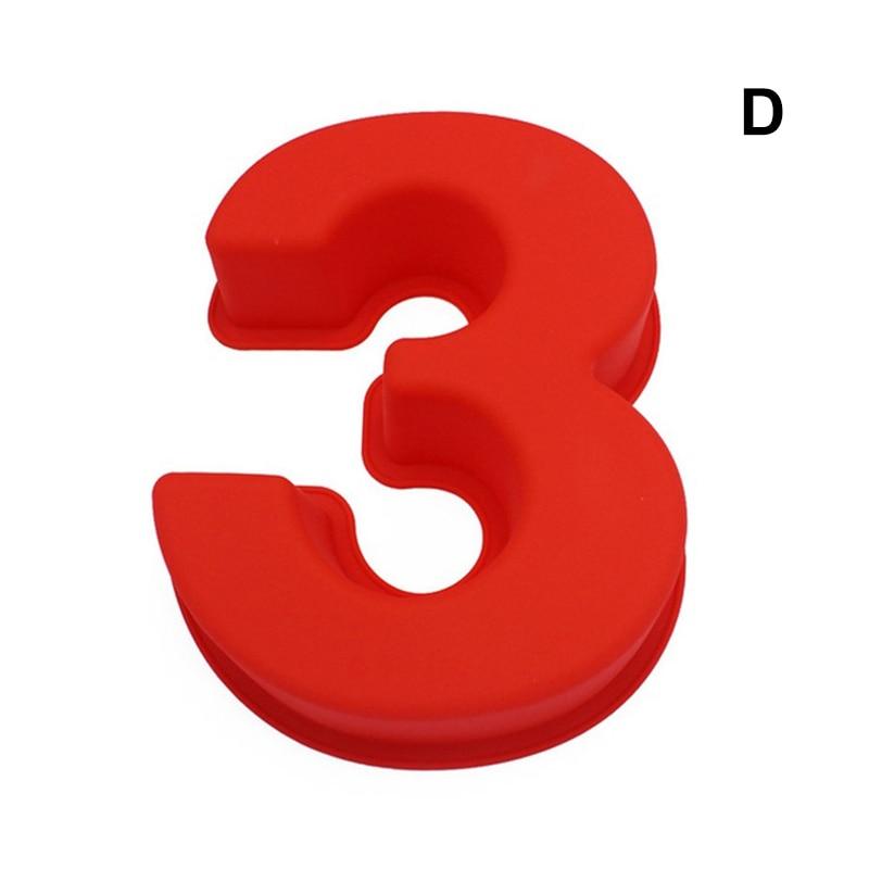 0-9 цифр, форма для торта, форма для украшения тортов, инструмент для свадьбы, дня рождения, юбилея - Цвет: 3