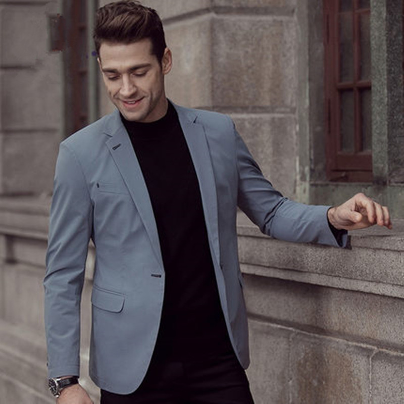 2017 spring new business single suit suit middle-aged mens pure color small suit jacket