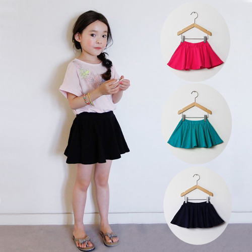 Children's clothing girls summer new Korean cotton candy color children children baby safety pants skirt half skirt FREE
