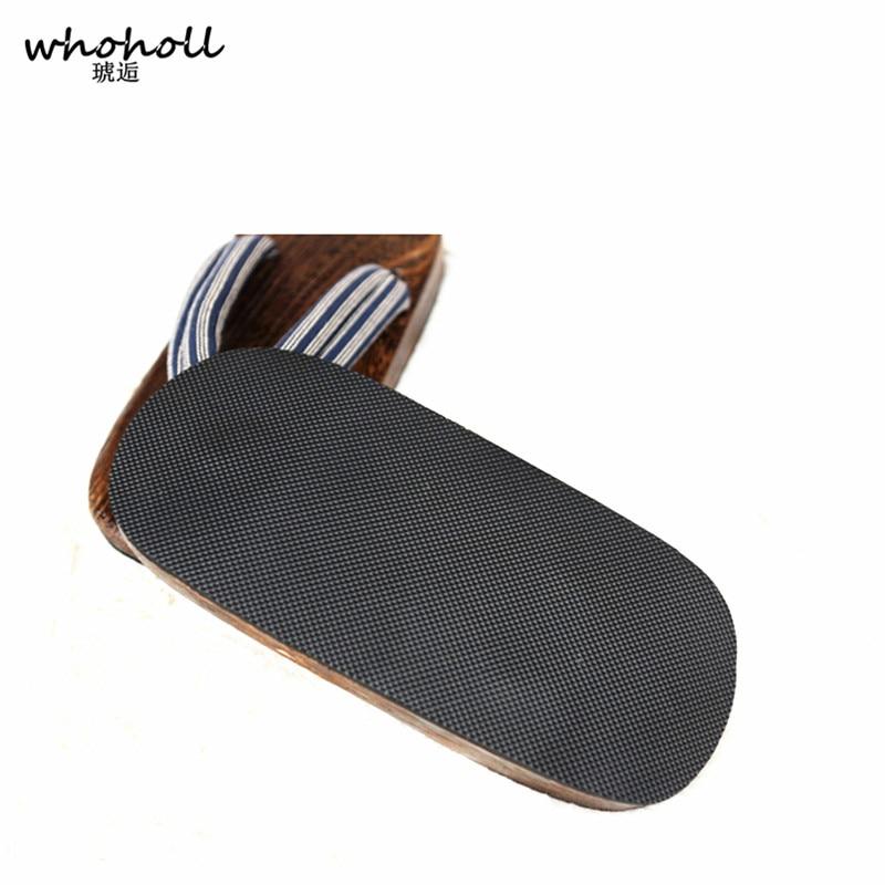 WHOHOLL Geta Summer Sandals Man Japanese Wooden Slippers Cos Clogs Men 39 s flat Flip flops Thick Sole Antiskid Platform Sandals in Men 39 s Sandals from Shoes