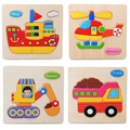 Children Toys Educational Transportation Montessori Wooden Jigsaw Puzzles Toys For Kids Free Shipping