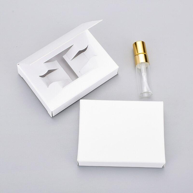 ขายส่ง 100 ชิ้น/ล็อต 3 มิลลิลิตรปรับแต่งกล่องกระดาษและขวดน้ำหอมแก้ว Atomizer & ขวดเปล่าบรรจุภัณฑ์-ใน ขวดรีฟิล จาก ความงามและสุขภาพ บน   2