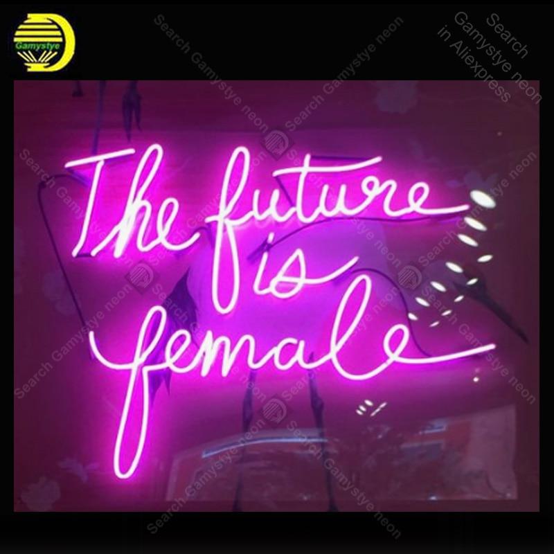 Enseigne au néon pour l'avenir est des lampes au néon à affichage féminin Tube de verre réel décorer la maison