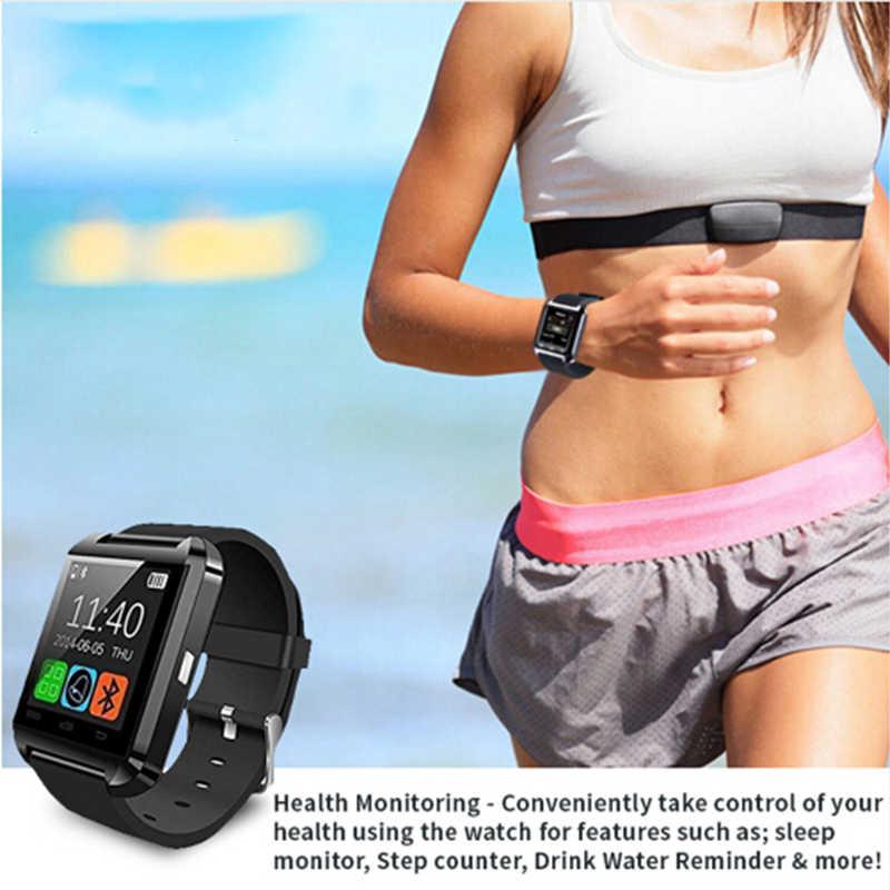 GEJIAN Bluetooth Smart Watch Message Notification Waterproof Smart Bracelet Android Smartphone IOS Watch Pedometer Remote Camera