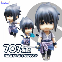 Tobyfancy Anime Naruto Sasuke Nendoroid Action Figure Uchiha Sasuke Cute 707 Nendoroid Collection Model Toy Gifts