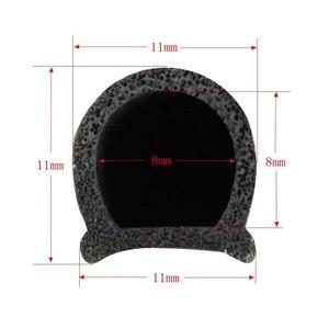 Image 5 - Piccolo Tipo D striscia di 5 M Auto Motore Guarnizione Della Porta Striscia di Guarnizione di Tenuta In Gomma Weatherstrip Sigilli di Isolamento Acustico