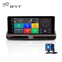 """HYT H600 3 г 7 """"Видеорегистраторы для автомобилей Регистраторы GPS навигации Android заднего вида dashcam с Wi-Fi Автомобильный регистратор Двойной объектив 1080 P bluetooth USB"""
