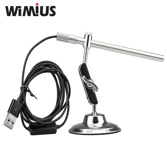 Wimius Portable Digital USB Microscope Endoscope Magnifier IP67 Waterproof Video Camera CMOS Sensor HD MIni Cam 10x to200x 6LEDs