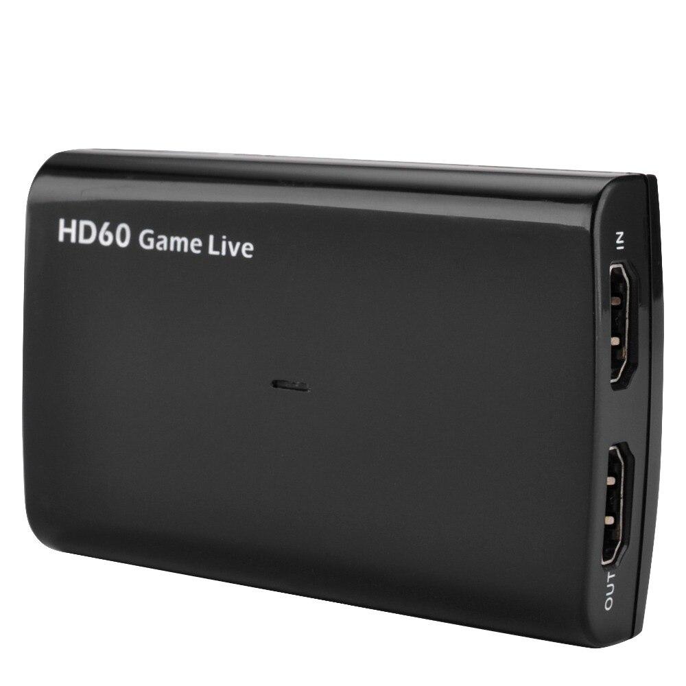 HDMI Vidéo carte de capture USB 3.0 Mic, HD 1080 P 60fps Jeu enregistreur vidéo pour PS3 PS4 Xbox TV BOÎTE Contraction OBS Youtube Live Streaming