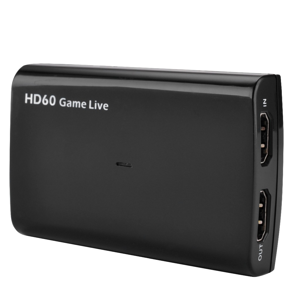 HDMI Video Capture Card with Mic,HD 1080P 60fps Game Video Record Capture for Twitch OBS Youtube Live Streaming for PS3 PS4 Xbox
