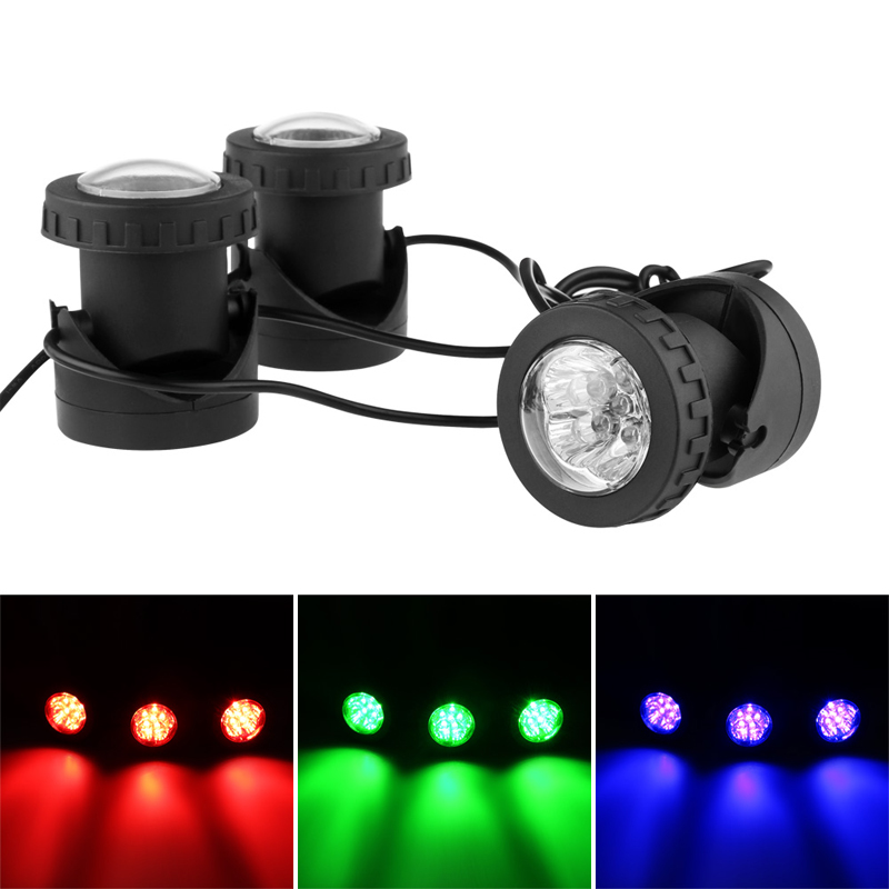 Led Underwater Lights Adeeing 36 Led Rgb Spot Light Submersible For Underwater Pool Pond Fountain Outdoor Landscape Waterproof Spot Lamp