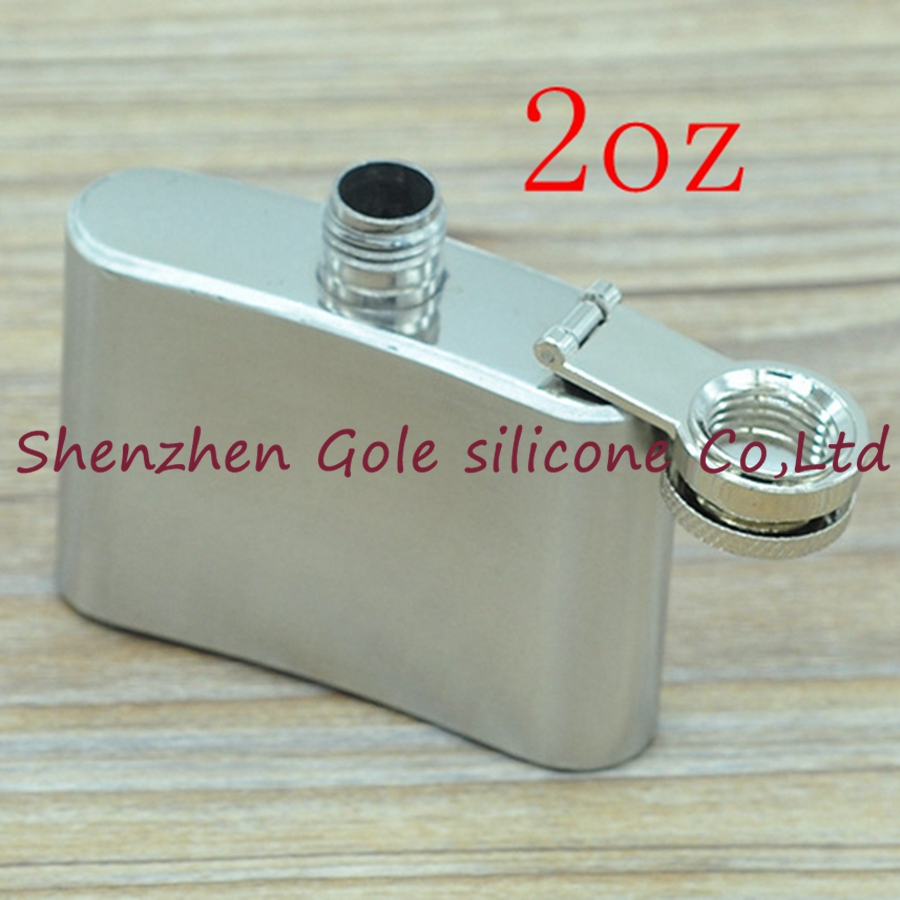50pcs 2oz Stainless Steel Pocket Flask Russian Hip Flask Male Small Portable Mini Shot Bottles Whiskey Jug Small Gifts For Man