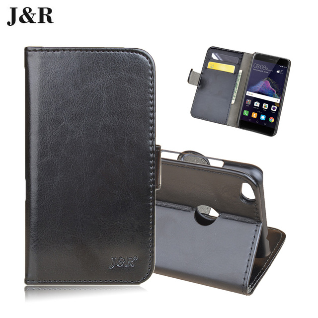 Wallet Case For Huawei P8 Lite 2017 5.2inch Flip Cover For Huawei P8 Lite 2017 Dual Sim PRA-LX1 Phone Bag With Card Holder J&R