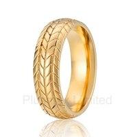 Haute qualité anel ouro Belle motif Conception En Toute Sécurité En Ligne d'achat titanium wedding band anneau de mode pour hommes