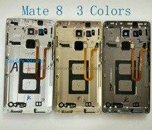 Original For Huawei Mate 8 Battery Cover Back Door Lid Housing Assembly + Fingerprint Sensor + Side Buttons + Camera Lens Flash