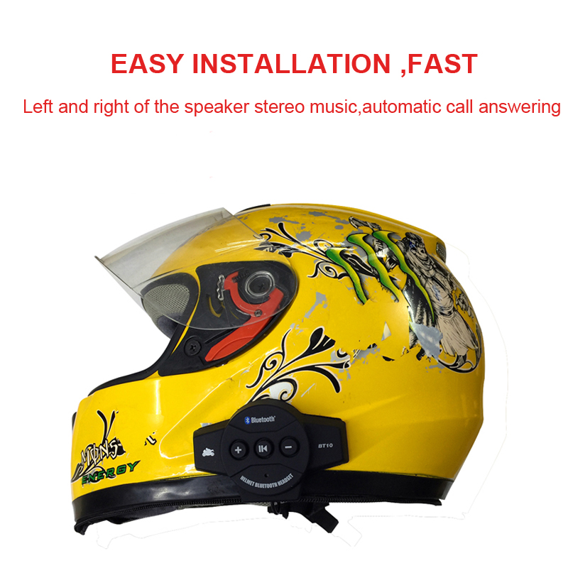 2019 Newest upgrade Motorcycle Hat helmet bluetooth earphone speaker headset automatically answers Bluetooth earphone