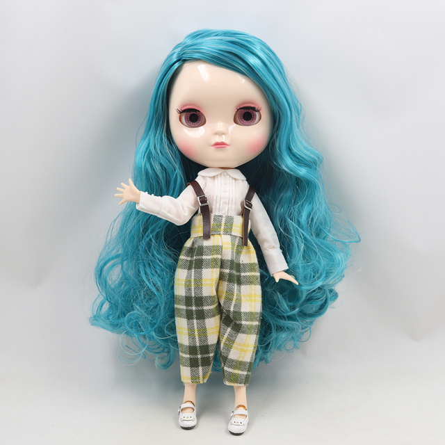 ICY Fortune Days factory azone joint body 30cm white skin Blue mixed color curls hair DIY sd gift toy