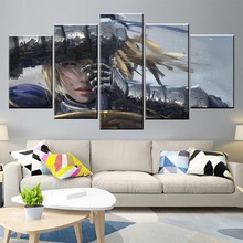 Wall Art Poster Painting Modular Pictures Living Room Decorative Canvas Printed 5 Panel Anime Girls Saber Zero Fate Series WLOP